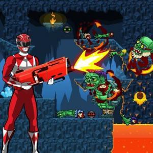 Idle Power Rangers Kill Zombies